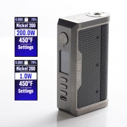Authentic Lost Vape Centaurus DNA 250C 200W TC VW Mod - Gunmetal/Pearl Fish-Tactile Carbon Fiber, 2 x 18650, 1~200W, 200~600'F