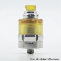 Authentic asMODus Anani V2 MTL RTA Rebuildable Tank Vape Atomizer - Silver, Stainless Steel + PEI, 24.5mm Diameter