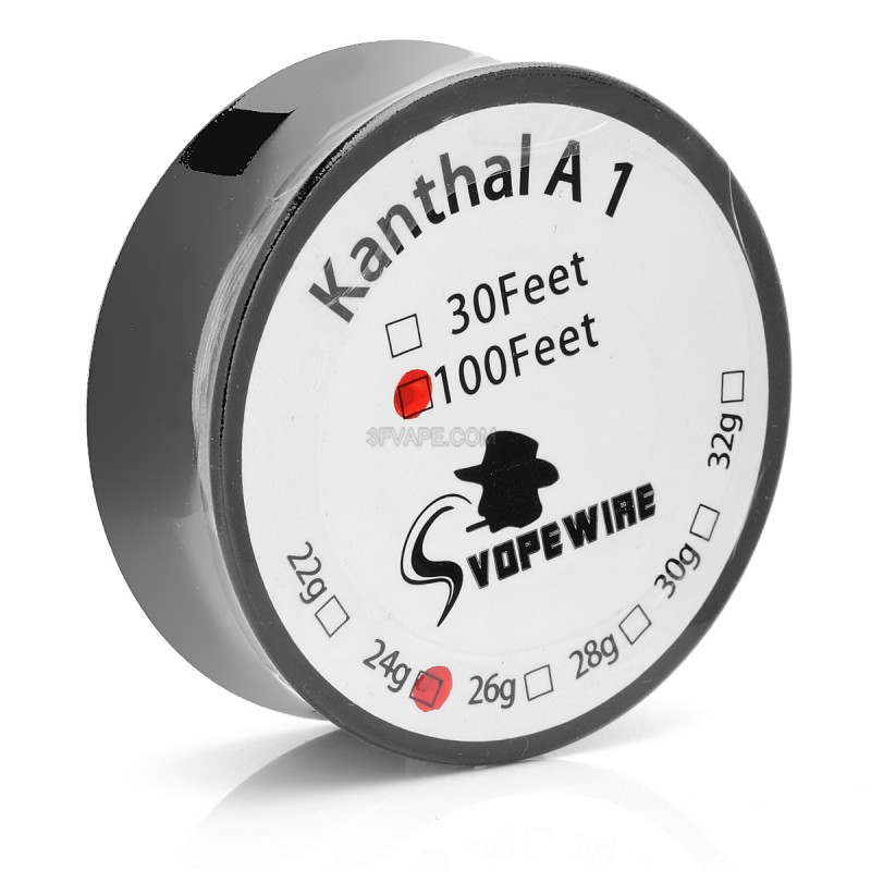 Authentic Kanthal A1 24 AWG 30m Resistance Wire for RBA / RDA / RTA