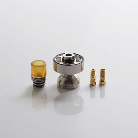 Authentic BP MODS Pioneer RTA Vape Atomizer Replacement DL Extension Pack - Silver, Chimney + Drip Tip + 2mm / 2.9mm Air Pins