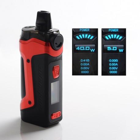 Authentic GeekVape Aegis Boost Plus 40W TC VW Mod Pod System Vape Starter Kit - Devil Red, 5.5ml, 5~40W, 200~600'F, 1 x 18650