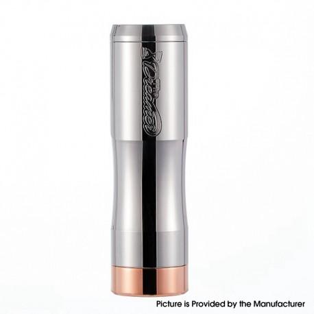 Authentic Timesvape Dreamer V1.5 Hybrid Mechanical Mech Vape Mod - Polished Silver, Stainless Steel, 1 x 18650 / 20700 / 21700