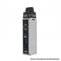 Authentic OBS Cabo 80W VW Variable Wattage Mod Pod System Vape Starter Kit - Chrome, 5~80W, 2.5 / 3.0ml, 0.2 / 0.4ohm