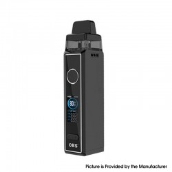 Authentic OBS Cabo 80W VW Variable Wattage Mod Pod System Vape Starter Kit - Black, 5~80W, 2.5 / 3.0ml, 0.2 / 0.4ohm