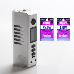 Authentic Dovpo Odin Mini DNA75C 75W TC VW Variable Wattage Vape Box Mod - Brushed Silver, Aluminum Alloy, 1~75W, 1 x 21700