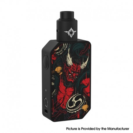Authentic Rincoe Manto Beast 228W VV Box Mod + Metis RDA Atomizer Vape Kit - Raijin, 2 x 18650