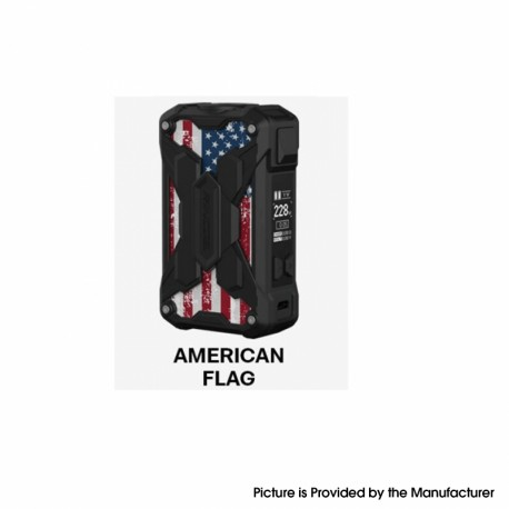 Authentic Rincoe Mechman Lite 228W TC VW Variable Wattage Vape Box Mod - American Flag, 1~228W, 2 x 18650