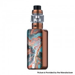 Authentic Vaporesso LUXE II 220W VW Box Mod Vape Kit with NRG-S Tank Atomizer - Bronze Coral, 2 x 18650, 5~220W, 8.0ml
