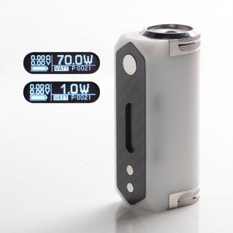 SXK Stickman SLGT V2 Gera GT Style 70W TC VW Variable Wattage Vape Box Mod - White, 1 x 21700