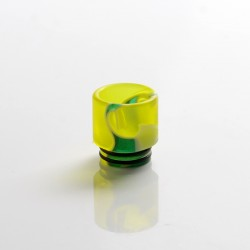 Replacement 810 Drip Tip for RDA / RTA / RDTA Sub Ohm Tank Vape Atomizer - Yellow, Resin, 17mm