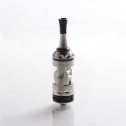 Vapeasy Fire Bird Style RTA Rebuildable Tank Vape Atomizer - Silver + Black, 316 Stainless Steel + Glass, 5.0mL, 22mm Diameter