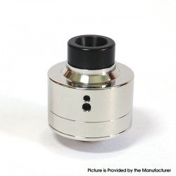 SXK Haku Venna Style RDA Rebuildable Dripping Vape Atomizer w/ BF Pin - Polish Silver, 316 Stainless Steel, 22mm Diameter