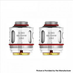 Authentic Uwell Valyrian Vape Atomizer Replacement UN2 Mesh Coil Head - 0.18ohm (90~100W) (2 PCS)