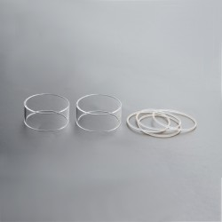 Authentic Steam Crave Aromamizer Titan RDTA Replacement Straight Tank Tube - Transparent, Glass, 18ml (2 PCS)