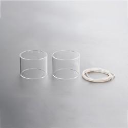 Authentic Steam Crave Aromamizer Titan RDTA Replacement Straight Tank Tube - Transparent, Glass, 28ml (2 PCS)