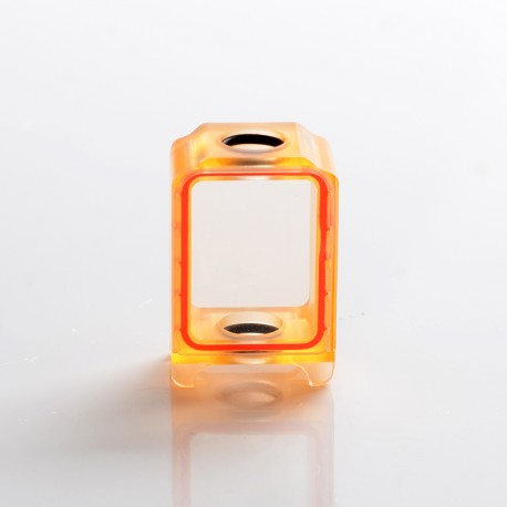 SXK Replacement Tank for 70W / DNA 60W BB Billet Box / SXK Bantam Revision 30W Mod Vape Kit - Orange, Acrylic + Glass