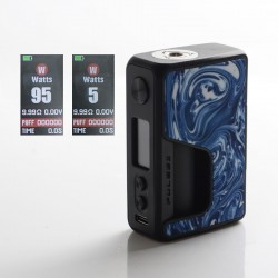 Authentic Vandy Vape Pulse V2 II 95W TC VW BF Squonk Squeeze Vape Box Mod - Sky Blue Resin, 5~95W, 1 x 18650 / 20700 / 21700