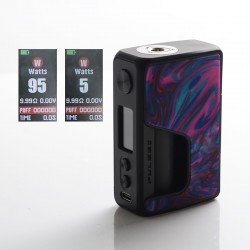 Authentic Vandy Vape Pulse V2 II 95W TC VW BF Squonk Squeeze Vape Box Mod - Rainbow Resin, 5~95W, 1 x 18650 / 20700 / 21700