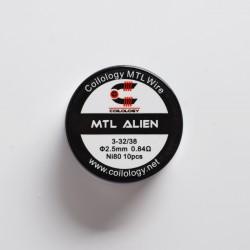 Authentic Coilology Pre-built MTL Alien Wire Coil for RDA / RTA / RDTA Vape Atomizer - 32 x 3GA + 38GA, Ni80, 0.84ohm (10 PCS)
