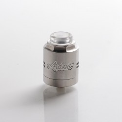 Timesvape X TenaciousTXVapes Ardent 27mm RDA Rebuildable Dripping Vape Atomizer - Brush Silver, 316SS, 27mm Diameter