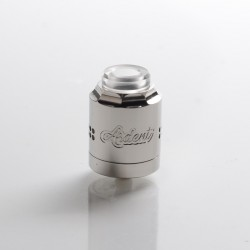 Timesvape X TenaciousTXVapes Ardent 27mm RDA Rebuildable Dripping Vape Atomizer - Polish Silver, 316SS, 27mm Diameter