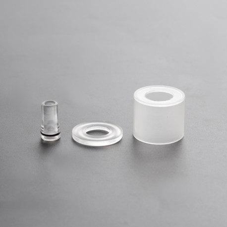 Replacement Drip Tip + Tank Tube + Top Cap for Patibulum Unleashed Style RTA - Translucent, 3.5ml