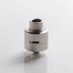 SXK M-Atty FYF M-Atty V2 Style RDA Rebuildable Dripping Vape Atomizer w/ BF Pin - Silver, 316 Stainless Steel, 20mm Diameter