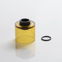Authentic Auguse Era MTL RTA Vape Atomizer Replacement Round Tank Tube - Translucent Yellow, PCTG