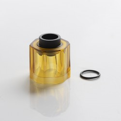 Authentic Auguse Era MTL RTA Vape Atomizer Replacement Hexagonal Tank Tube - Translucent Yellow, PCTG