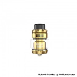 Authentic Vandy Vape Kylin Mini V2 RTA Rebuildable Tank Vape Atomizer - Gold, 3.0 / 5.0ml, 24.4mm Diameter