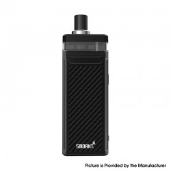 Authentic Smoant Pasito II 2 V2 80W 2500mAh TC VW Pod Mod Vape Starter Kit - Carbon fiber, 1~80W, 1~80W, 6.0ml, 0.3/0.6ohm