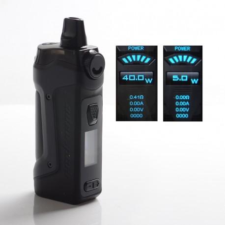 Authentic GeekVape Aegis Boost Plus 40W TC VW Mod Pod System Vape Starter Kit - Space Black, 5.5ml, 5~40W, 200~600'F, 1 x 18650