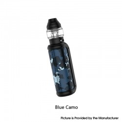 Authentic OBS Cube-S 80 VW Variable Wattage Box Mod + Cube Tank Atomizer Vape Kit - Blue Camo, 5~80W, 1 x 18650, 4.0ml, 0.2ohm