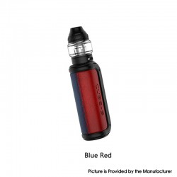 Authentic OBS Cube-S 80 VW Variable Wattage Box Mod + Cube Tank Atomizer Vape Kit - Blue Red, 5~80W, 1 x 18650, 4.0ml, 0.2ohm