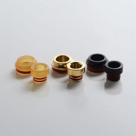 SXK M-Atty FYF M-Atty V2 Style RDA Replacement 510 Drip Tip + 510 Drip Tip Adapter - Black + Gold + Brown, SS + PEI + POM (3PCS)