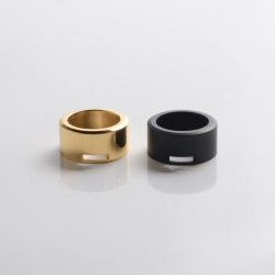 SXK M-Atty FYF M-Atty V2 Style RDA Replacement Adjustable Airflow AFC Rings Set - Black + Gold, Stainless Steel (2 PCS)