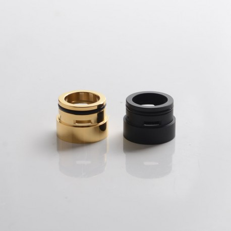 SXK M-Atty FYF M-Atty V2 Style RDA Replacement Airslots Top Cap Chamber - Black + Gold, Stainless Steel (2 PCS)
