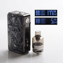 Authentic VOOPOO Drag 2 Platinum 177W VW Mod Kit w/PnP Tank - P-Ink, 4.5ml, 5~177W, 2 x 18650 (Refresh Standard Edition)