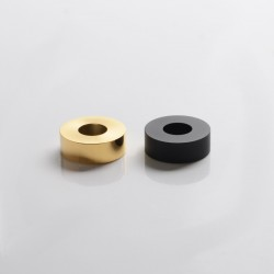 SXK M-Atty FYF M-Atty V2 Style RDA Replacement Decorative Rings Set - Black + Gold, Stainless Steel (2 PCS)
