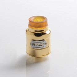 Authentic 5GVAPE Rage RDA Rebuildable Dripping Vape Atomizer w/ BF Pin - Gold, 316 Stainless Steel, 24mm Diameter