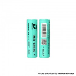 [Ships from Battery Warehouse] Authentic Listman IMR 18650 2800mAh 30A Flat Top Li-ion Rechargeable Battery - (2 PCS)
