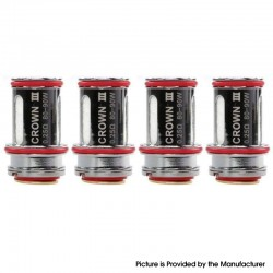 Authentic Uwell Replacement Coils for Crown III 3 / Crown III 3 Mini Tank Vape Atomizer - 0.25ohm (80~90W) (4 PCS)