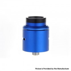 C2MNT COSMONAUT V2 Style RDA Rebuildable Dripping Vape Atomizer w/ BF Pin - Blue, Stainless Steel + Aluminum, 24mm Diameter
