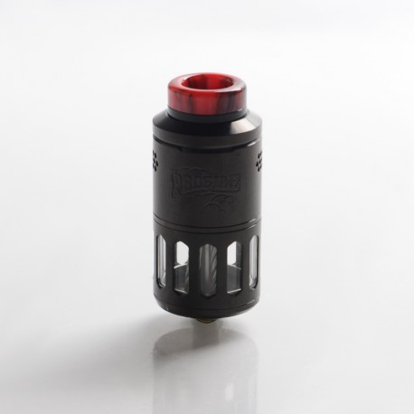 Authentic Wotofo Profile RDTA / RDA Rebuildable Dripping Tank Vape Atomizer w/ BF Pin - Black, 6.2ml, 25mm Diameter