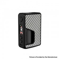 Authentic Vandy Vape Pulse V2 II 95W TC VW BF Squonk Squeeze Vape Box Mod - Silver Carbon Fiber, 5~95W, 1 x 18650 /20700 / 21700