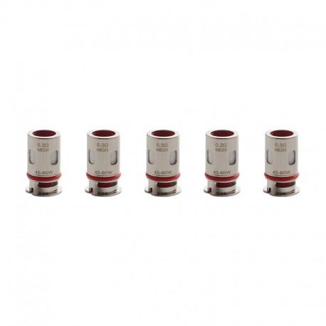Authentic Vaporesso Target PM80 80W VW Mod Pod Kit / Cartridge DTL GTX NiCr Mesh Coil Head - Silver, 0.2ohm (45~60W) (5 PCS)