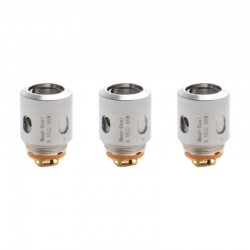 Authentic Smoant Ladon AIO 2in1 Tank Replacement Dual Mesh Coil Head - Silver, 0.15ohm, (70~80W) (3 PCS)