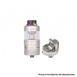 Authentic Steam Crave Aromamizer Supreme V3 RDTA Rebuildable Dripping Tank Vape Atomizer Basic Kit - Silver, 6.0 / 7.0ml, 25mm