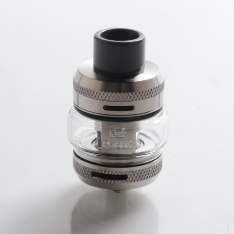 Authentic Hellvape Fat Rabbit Sub Ohm Tank Clearomizer - Stainless Steel, SS + Pyrex Glass, 2ml / 5ml, 25mm Diameter