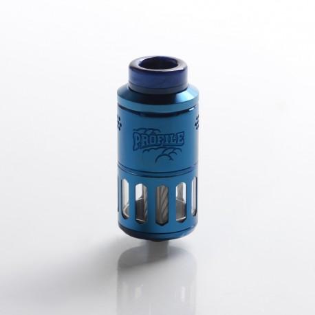 Authentic Wotofo Profile RDTA / RDA Rebuildable Dripping Tank Vape Atomizer w/ BF Pin - Blue, 6.2ml, 25mm Diameter